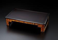 紫檀1.8尺竹節入り平卓香炉台(高嶋作)