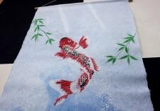 タペストリー(大・昇り鯉1匹)