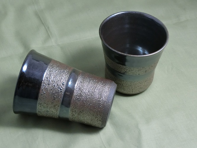 若狭鳳足焼 星くず ビアカップ・焼酎カップ