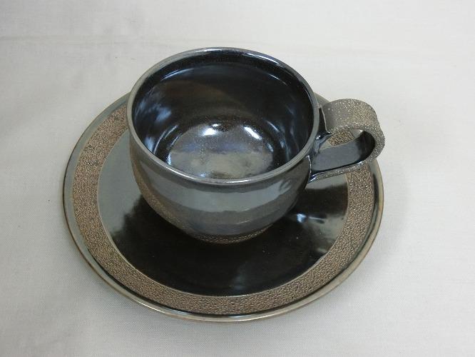 若狭鳳足焼 コーヒーカップ&ソーサ
