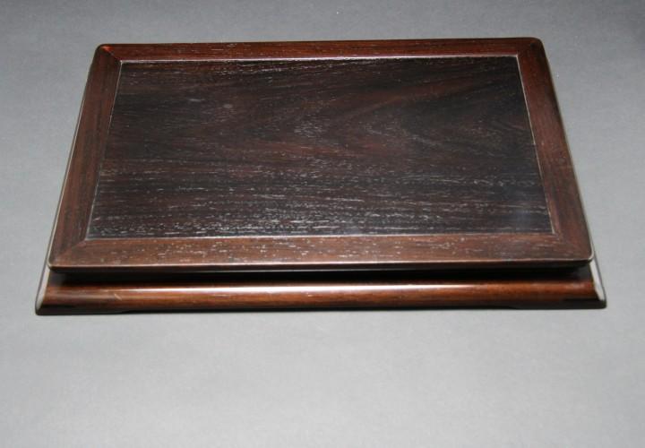 紫檀1.4尺三重平卓(高嶋作)